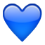 Blue Heart Shape Smiley