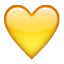 Yellow Heart Shape Smiley