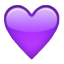 Purple Heart Shape Smiley
