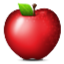 Tempting Red Apple Smiley Face, Emoticon