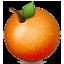 Round Orange Fruit Smiley