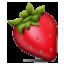 Bright Red Strawberry Smiley