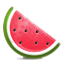 Refreshing Watermelon Slice Smiley Face, Emoticon