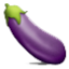 Fresh Purple Eggplant Smiley Face, Emoticon