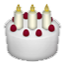 White Birthday Cake Smiley Face, Emoticon