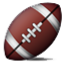 Brown And White Football Smiley Face, Emoticon