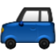 Tiny Blue Car Smiley Face, Emoticon