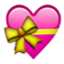 Pink Heart With Yellow Ribbon Smiley