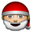 Santa Clause Get Up Smiley Face, Emoticon
