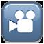 Video Blue Box Smiley Face, Emoticon