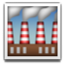 Busy Factory Chimneys Smiley Face, Emoticon