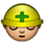The Medic With Head Gear Smiley Face, Emoticon