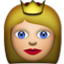 Blonde Princess Crown Smiley