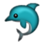 Blue Green Dolphin Smiley Face, Emoticon