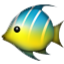 Blue And Yellow Fish Smiley Face, Emoticon