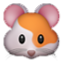 2-Toned Cute Mouse Smiley Face, Emoticon