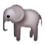 Long Nosed Elephant Smiley Face, Emoticon