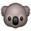 Koala With Big Nose Smiley Face, Emoticon