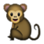 Tiny Baby Monkey Smiley Face, Emoticon