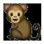 Tiny Baby Monkey Smiley Face, Emoticon