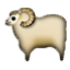 White Horned Animal Smiley Face, Emoticon