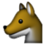 Fox Looking Left Smiley Face, Emoticon
