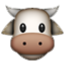Cute Big-Nosed Cow Smiley Face, Emoticon