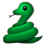 Green Swirly Snake Smiley Face, Emoticon