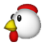 Red And White Chicken Smiley Face, Emoticon