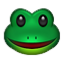 Smiling Green Frog Smiley